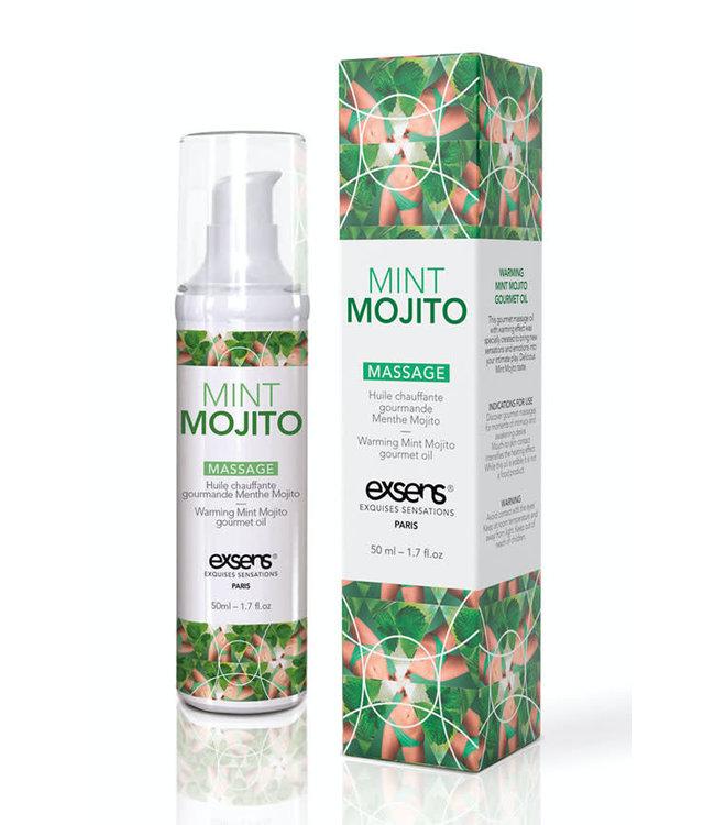 EXSENS of Paris Warming Massage Oil Mint Mojito 1.7oz