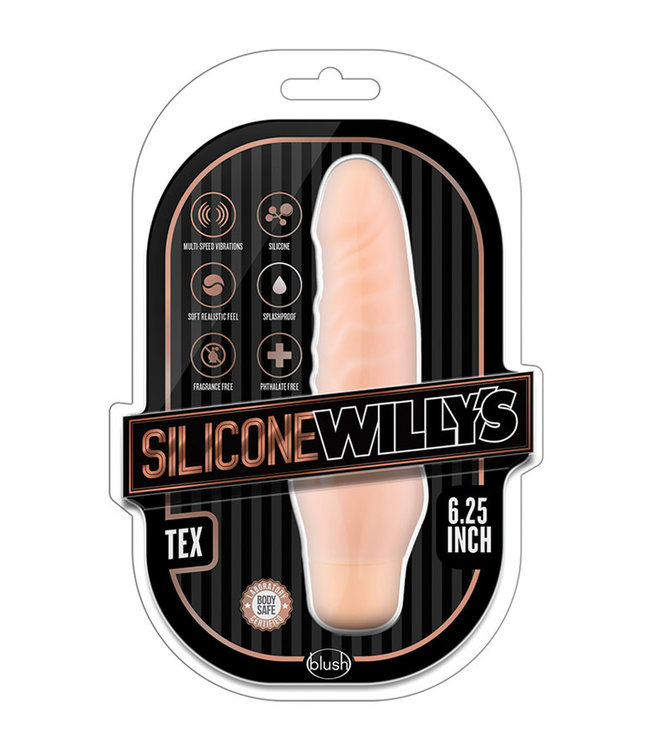Silicone Willy's Tex 6.25 Inch Vibrating Dildo Vanilla