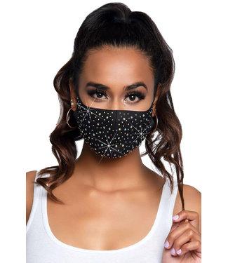 Naya Rhinestone Black Face Mask M1005