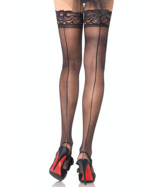 Backseam Stay Up Sheer Thigh Highs 1042