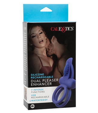 Couples Enhancers Silicone Rechargeable Dual Pleaser Enhancer