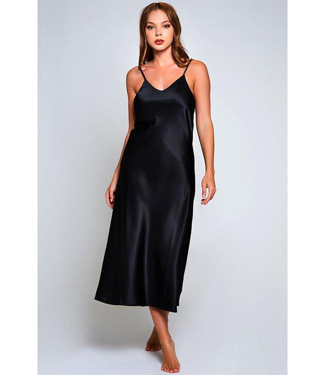 Kealy Black Long Gown 78025
