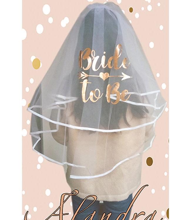 Bride to Be Luxury Veil Rose Gold