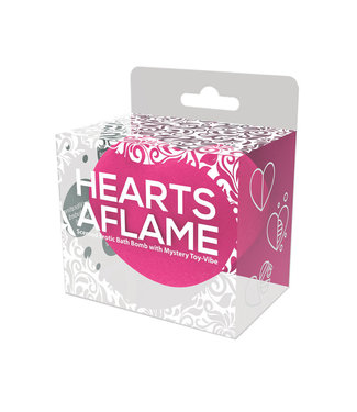 Hearts A Flame Erotic Lovers Bath Bomb Heart Shape Scented Bath Bomb With Mystery Toy Vibe
