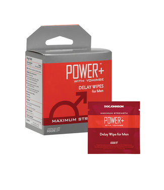 Power+ With Yohimbe Delay Wipes For Men 10pk