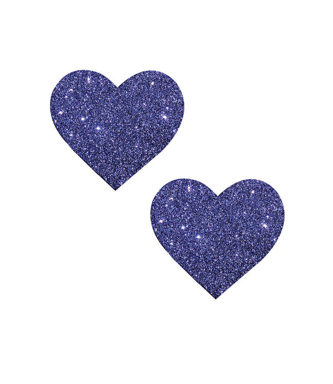 Neva Nude Nipztix Heart Purple Rain Purple Glitter