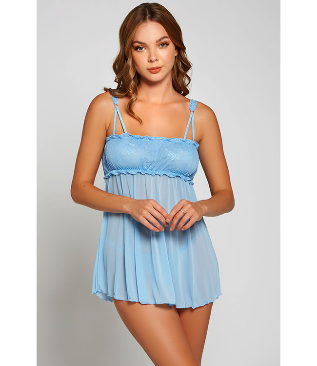 Sakura Light Blue Babydoll 8103