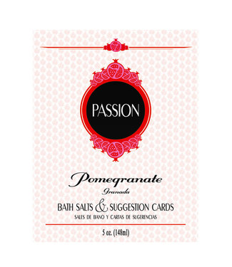 Passion Bath Salts & Suggestion Cards Pomegranate