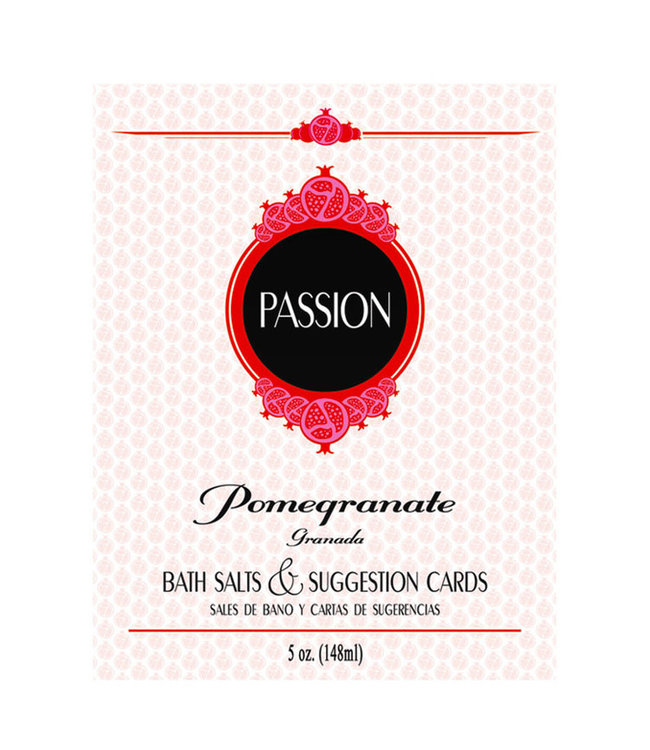 Passion Bath Salts & Suggestion Cards Pomegranate