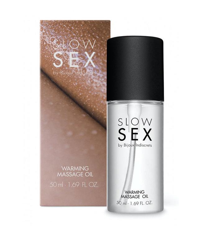 Bijoux Indiscrets Slow Sex Warming Massage Oil 1.69oz