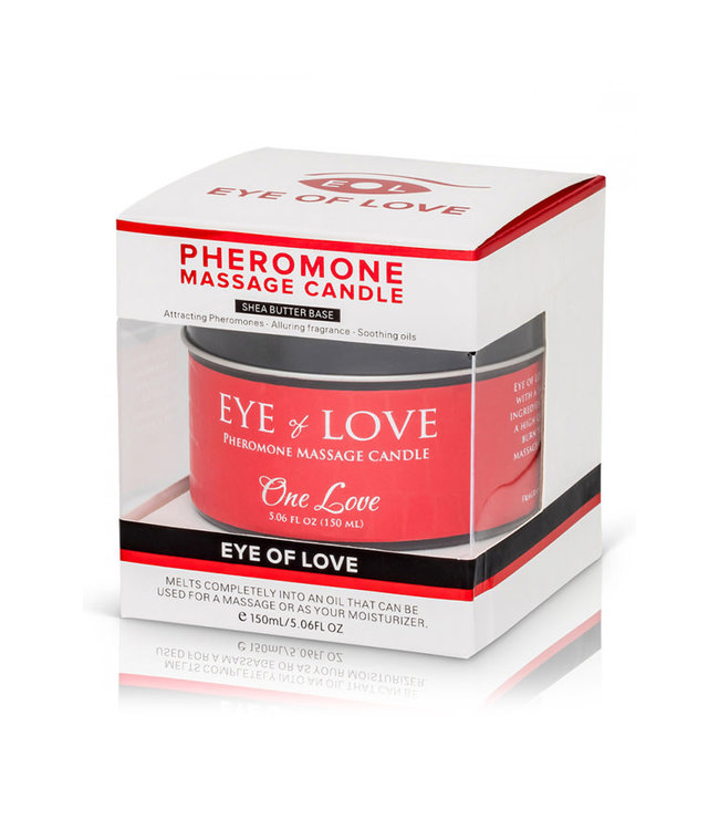 Eye of Love Pheromone Massage Candle One Love 5oz