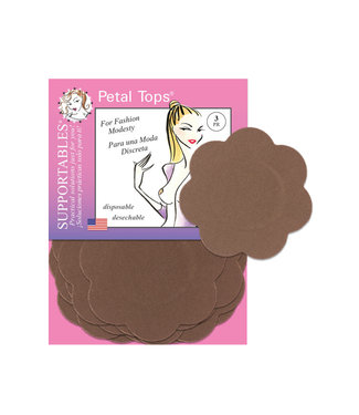 Petal Tops Soft Disposable Nipple Covers Cocoa