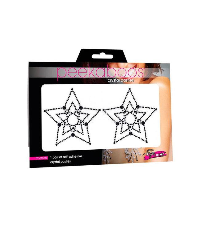 Crystal Star Black Pasties