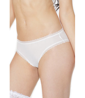 White Bridal Tulle Veil Crotchless Panty 373