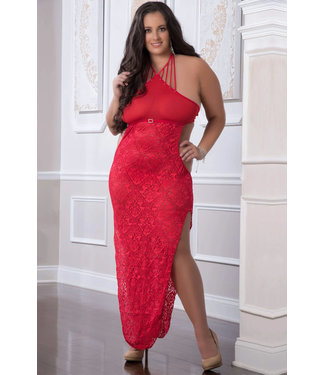 Milly Plus Long Gown D1904PQ