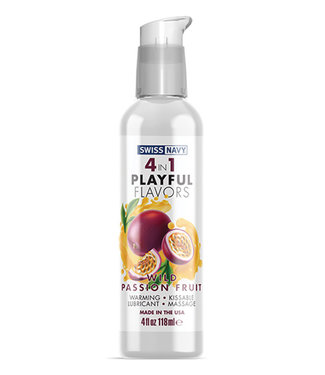Swiss Navy 4 in 1 Flavors Wild Passion Fruit 4oz