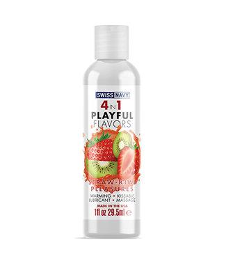 Swiss Navy 4 in 1 Playful Flavors Strawberry Kiwi Pleasure 1oz