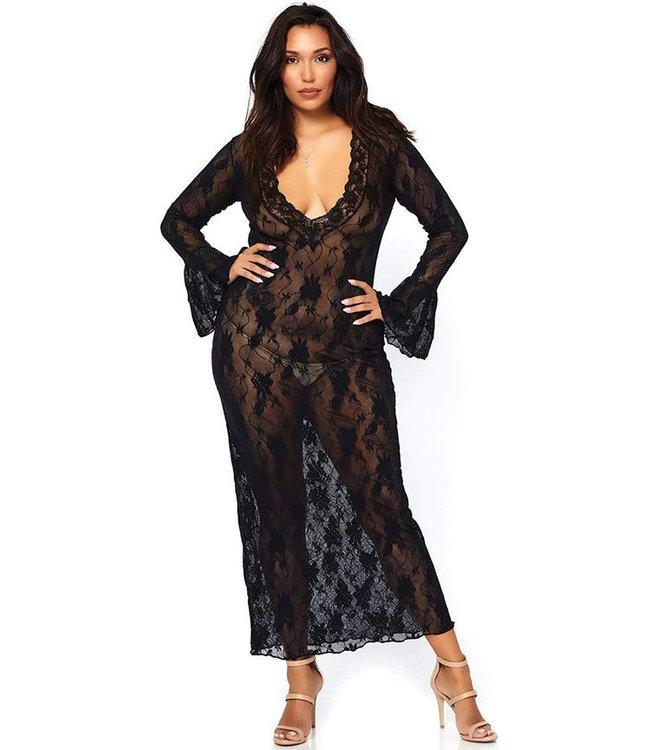 Terra Plus Black Long Gown 86092Q Queen