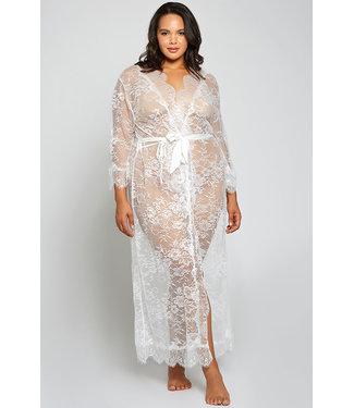 Kai Plus White Long Gown 78023X