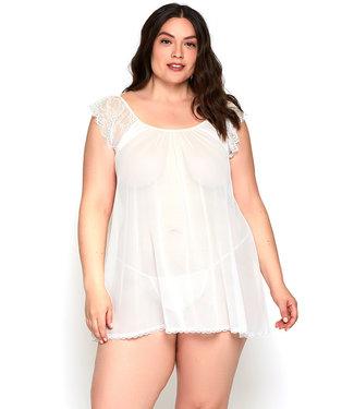 Amara Plus White Babydoll 8122X