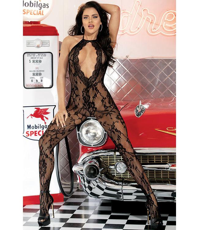 Black Stretch Lace Bodystocking 90475 One Size