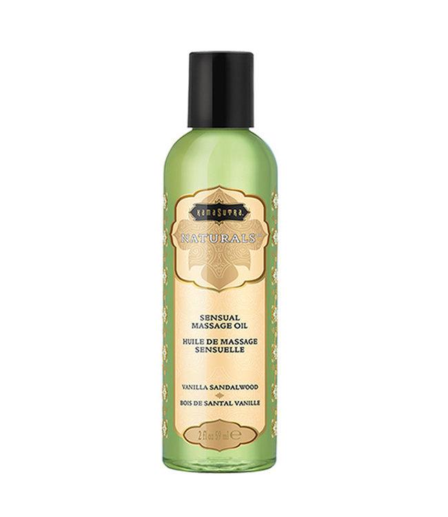Kama Sutra Naturals Massage Oil Vanilla Sandalwood 2oz