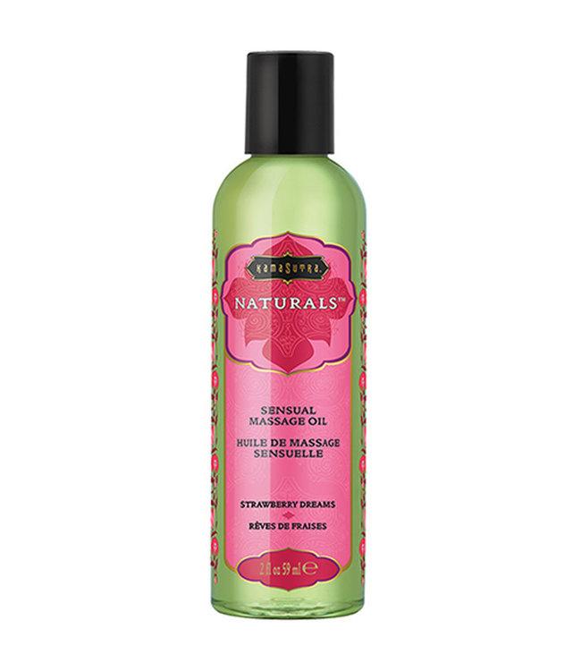 Kama Sutra Naturals Massage Oil Strawberry Dreams 2oz