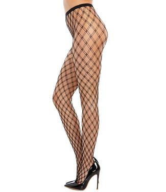 Black Fence Net Pantyhose 0369