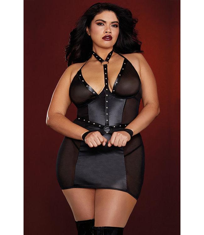 Brenda Plus Black Chemise 12222X Queen