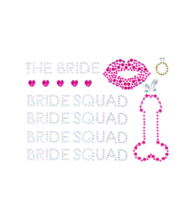 Bride Squad Adhesive Body Jewels Stickers