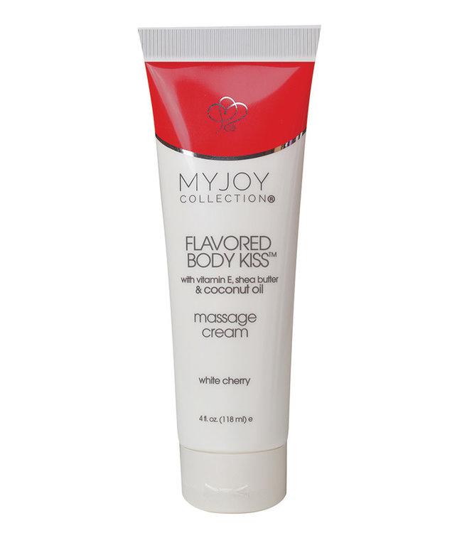 My Joy Collection Flavored Body Kiss Massage Cream White Cherry 4oz