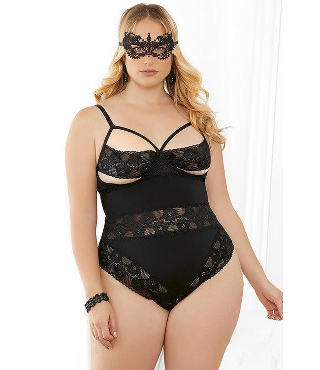 Charlotte Plus Black Teddy 33414X