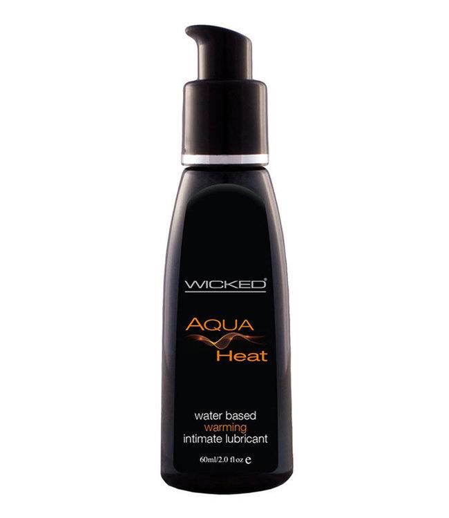 Wicked Aqua Heat Waterbased Warming Sensation Lubricant 4oz