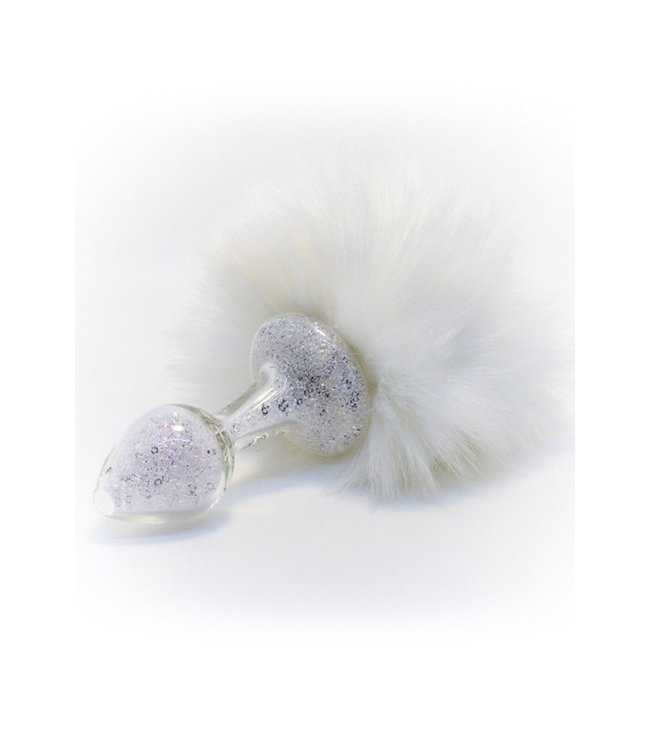 Crystal Delights Magnetic Sparkle Bunny Tail White
