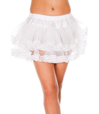 White Lace Mesh Petticoat 727