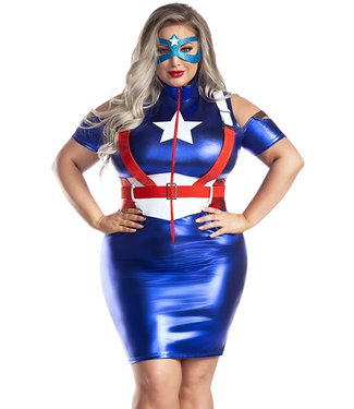 Plus Captain USA Costume S2182X
