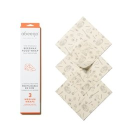 Abeego Medium Reusable Beeswax Food Wraps
