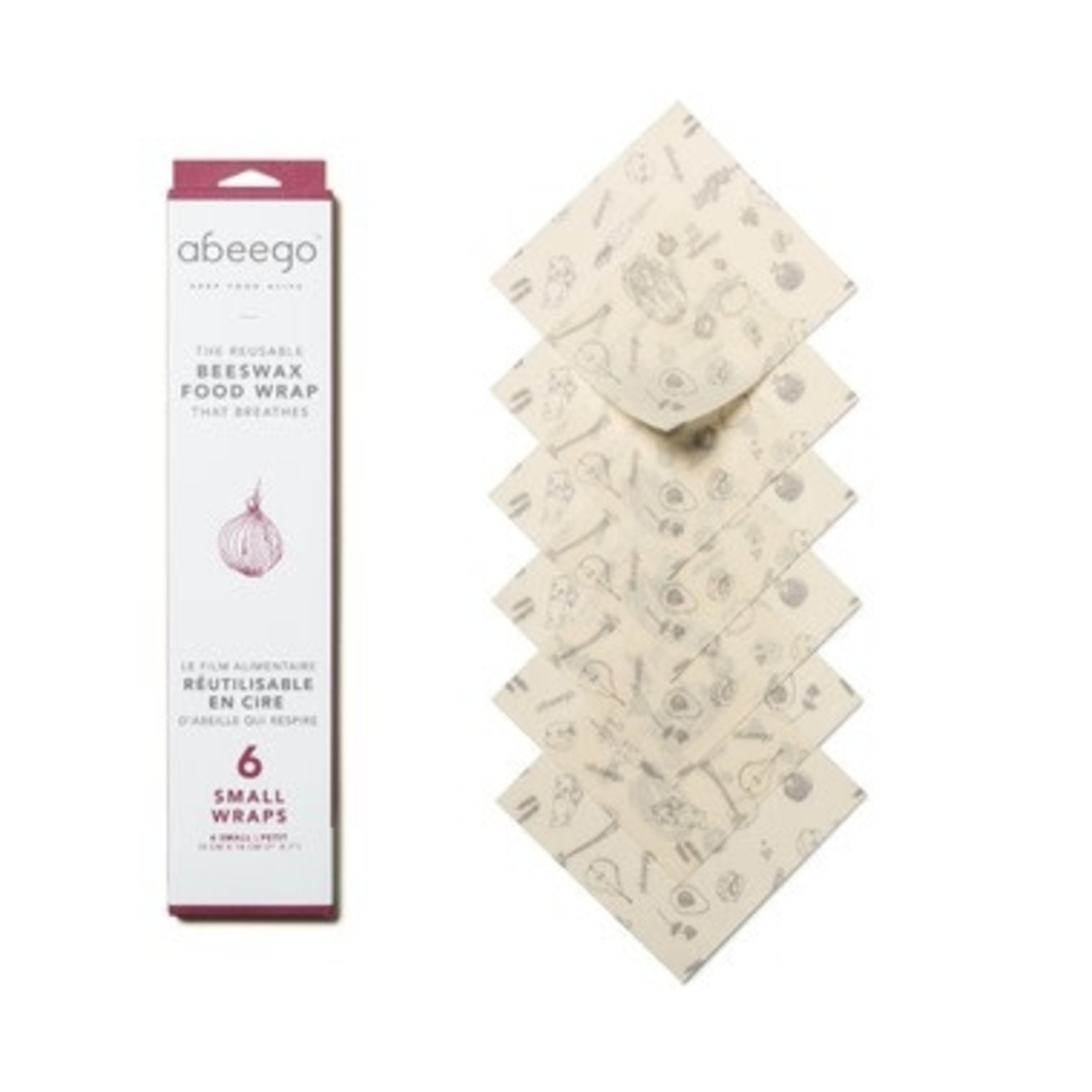 ABEEGO Small Reusable Beeswax Food Wraps