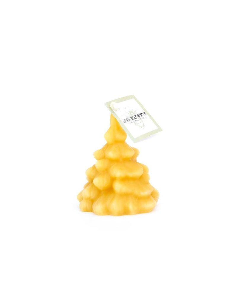 Bees Wax Works Decorative Spruce Tree Candle