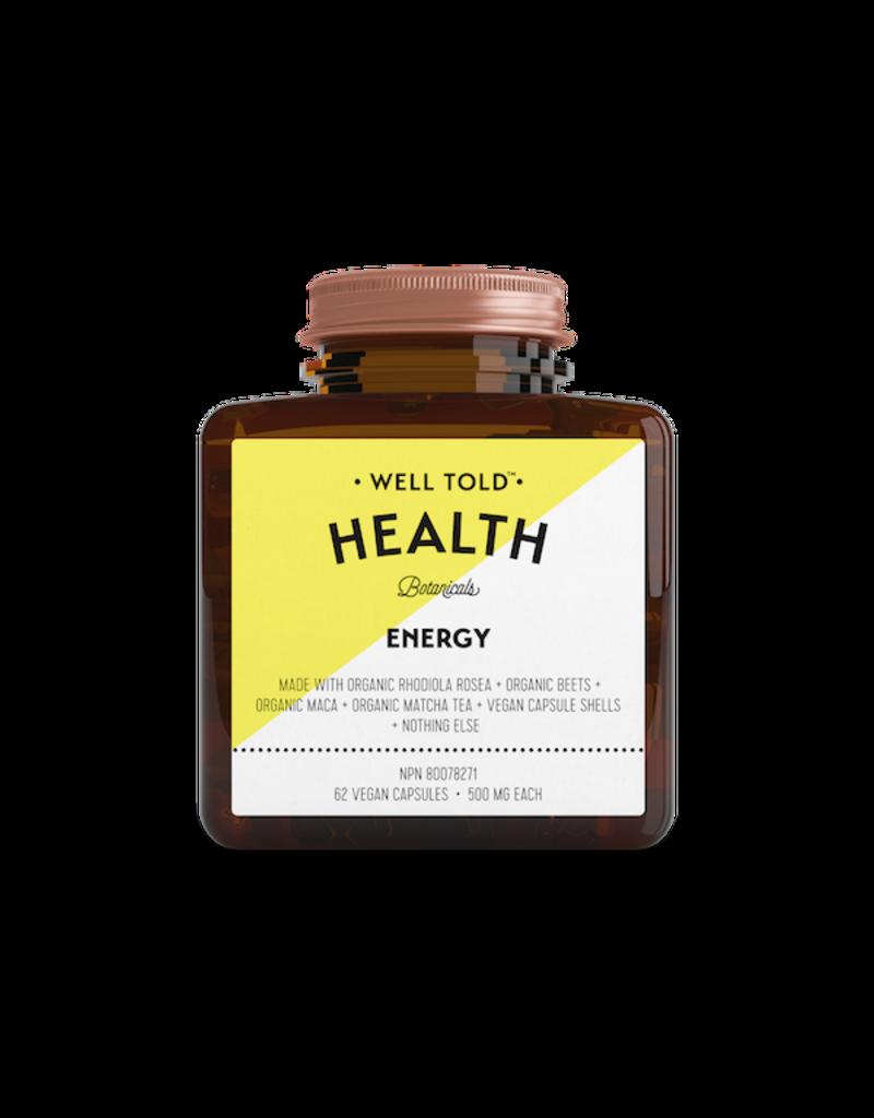 Well Told Health Botanicals Energy Vegan Capsules