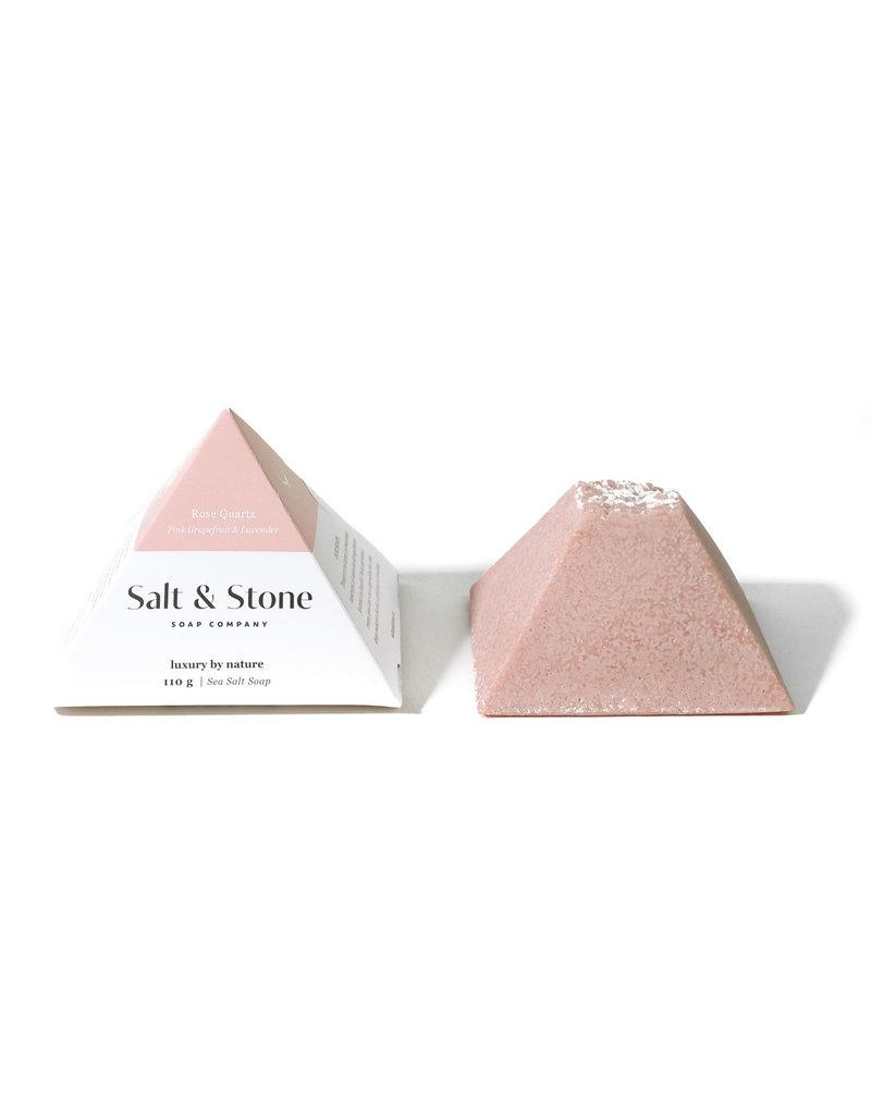 Salt and Stone Soap Company Rose Quartz Sea Salt Soap
