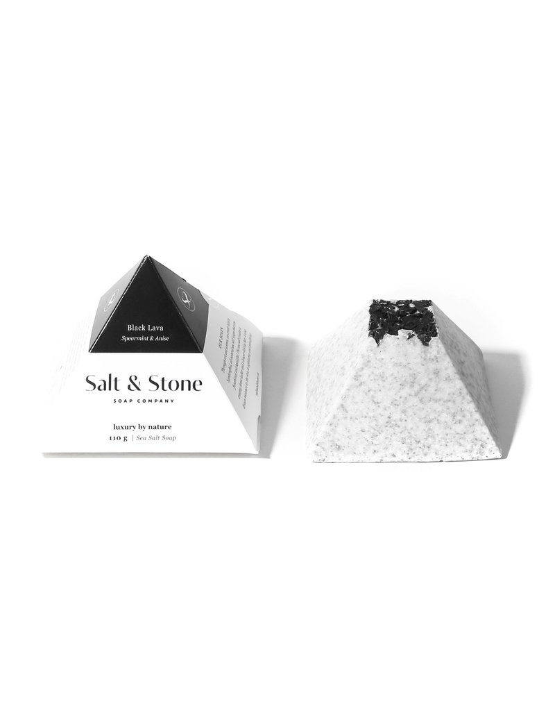 Salt and Stone Soap Company Black Lava Sea Salt Soap