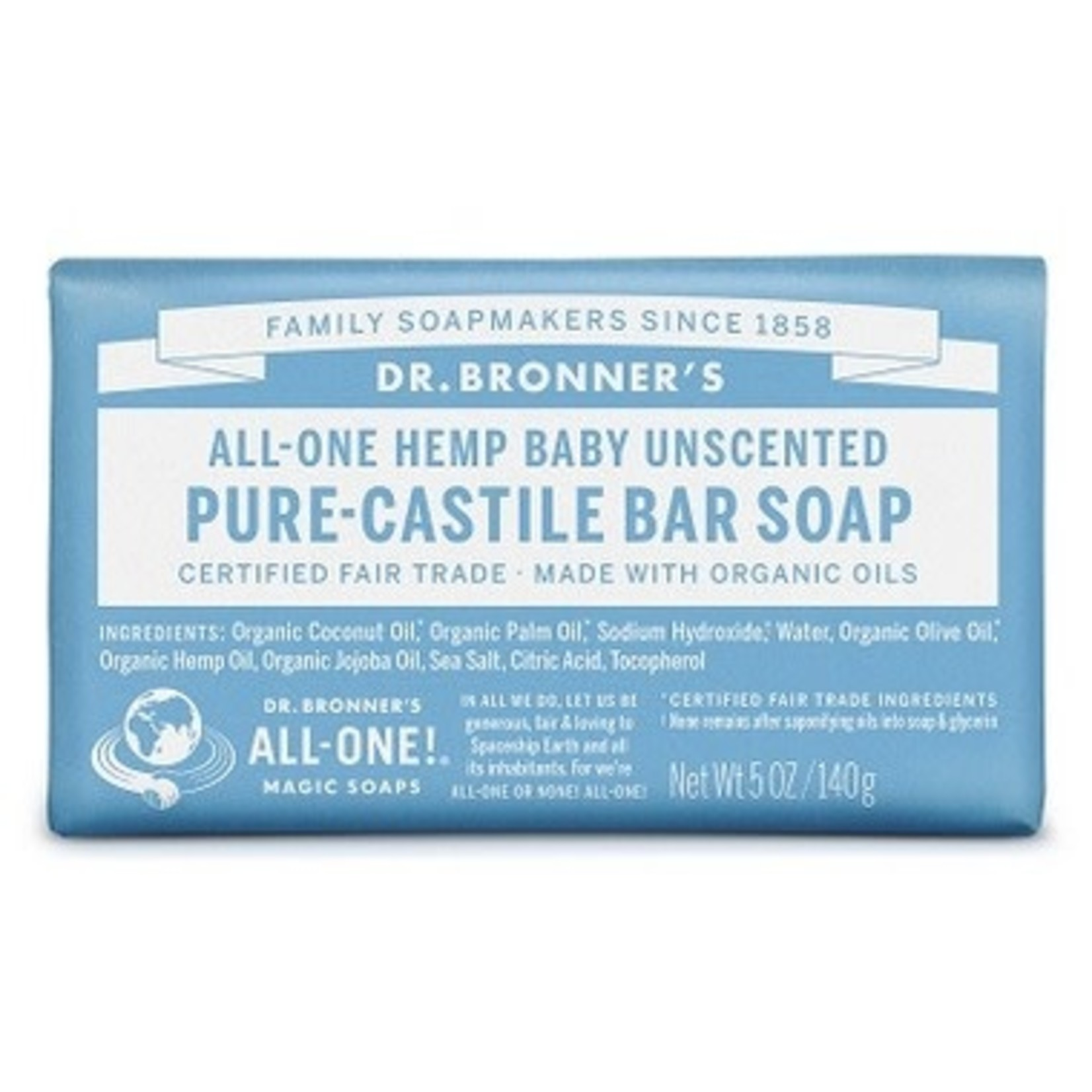 DR. BRONNER'S Pure-Castile Bar Soap - Baby (Unscented)