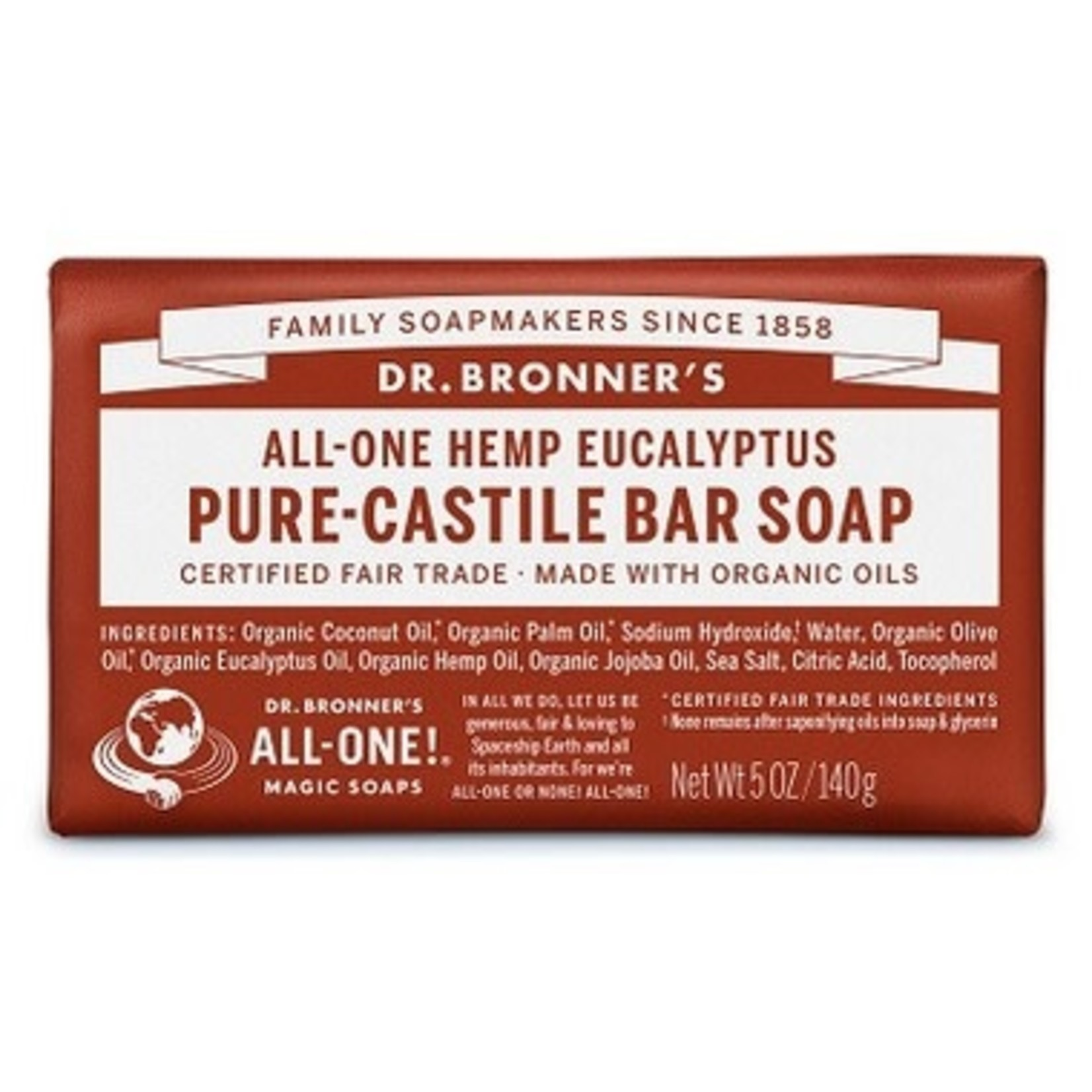 DR. BRONNER'S EUCALYPTUS PURE-CASTILE BAR SOAP