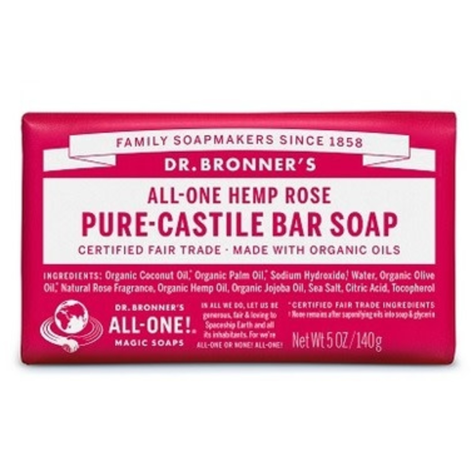 DR. BRONNER'S PURE CASTILE SOAP - ROSE