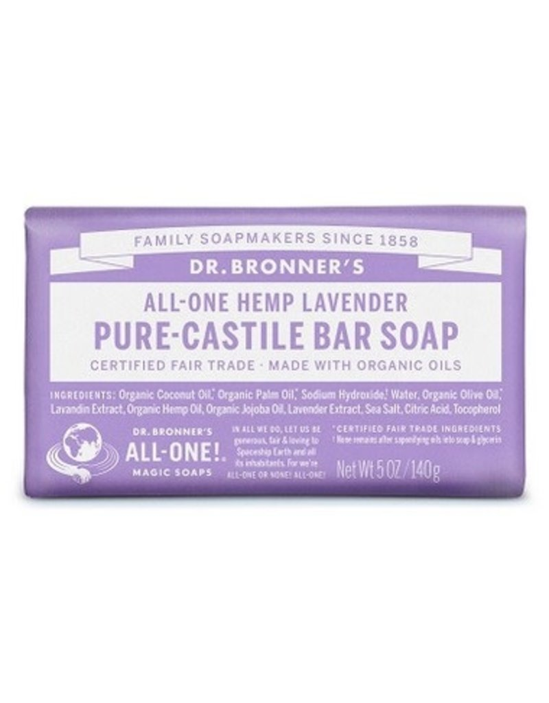 Dr. Bronner's Lavender Pure-Castile Bar Soap