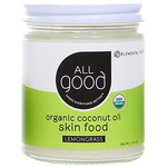 ALL GOOD Lemongrass Coconut Oil Skin Food