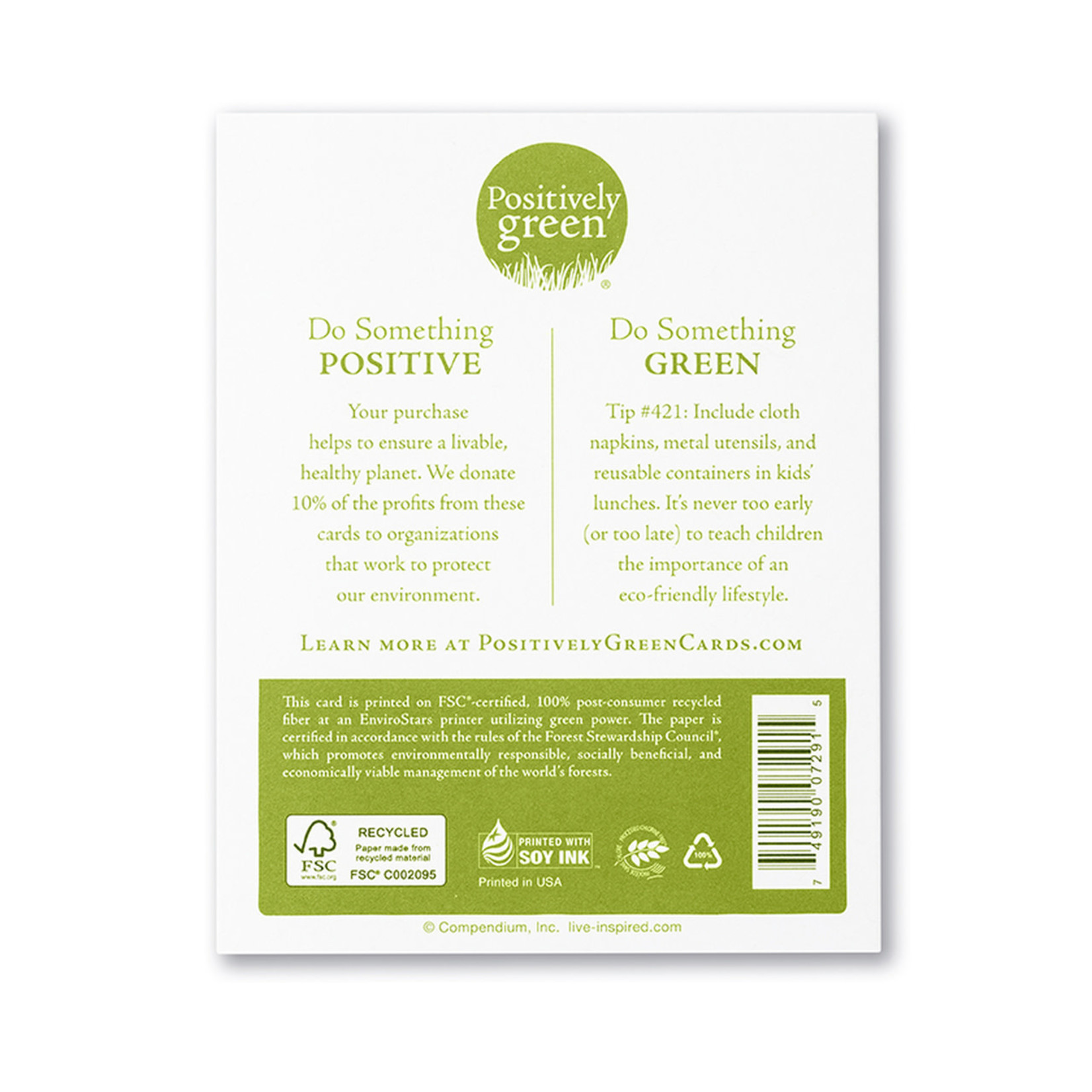 Positively Green Great Things Are Made of Little Things Mother's Day Card