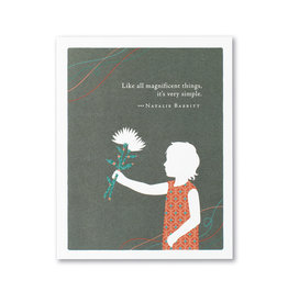 Positively Green Like All Magnificent Things, It's Very Simple Mother's Day Card