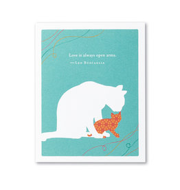 Positively Green Love Is Always Open Arms Mother's Day Card